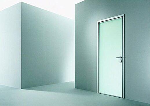 Двери межкомнатные стеклянные с алюминиевым каркасом