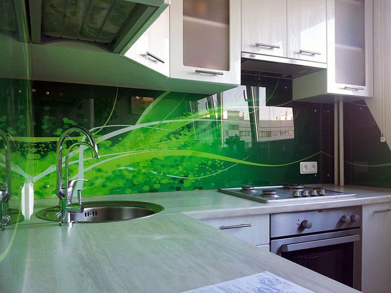 стеклянный фартук для кухни от производителя