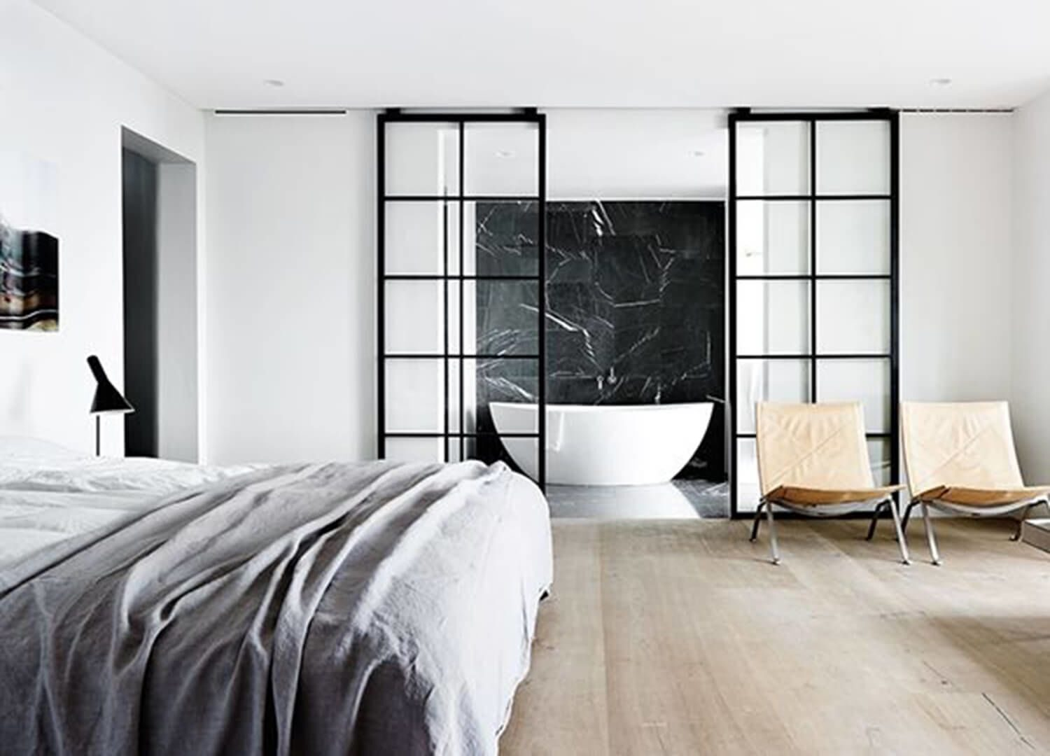 how-to-partition-a-master-bedroom_industrial-glass-wall-300x241